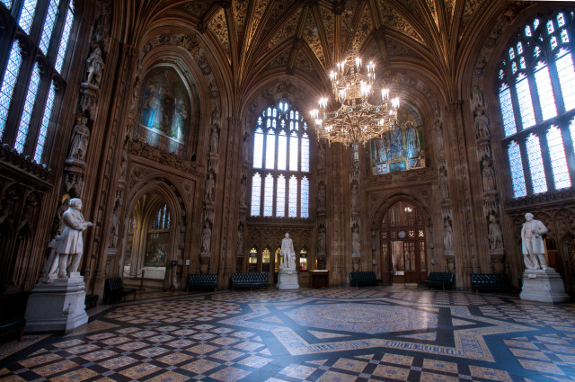 House of Lords & House of Commons Lobby. The Parliament. London. UK