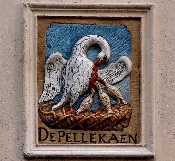 Rapenburgerplein 9 zijgevel, 17 век