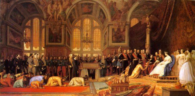 Наполеон III принимает сиамских послов 27 июня 1861 года, Жан-Леон Жером, 1864...