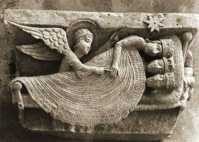 Le rêve des Rois Mages 1120-30 Cathedrale Saint-Lazare, Autun, France